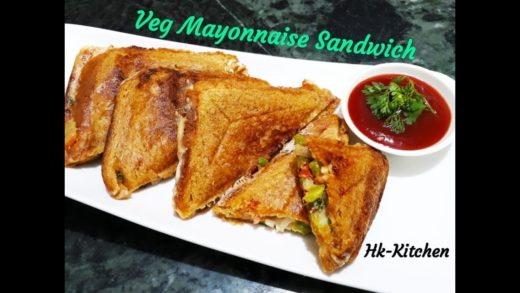 Veg Mayonnaise Sandwich Recipe in Toaster   Easy & Quick   Cook with Hk-Kitchen