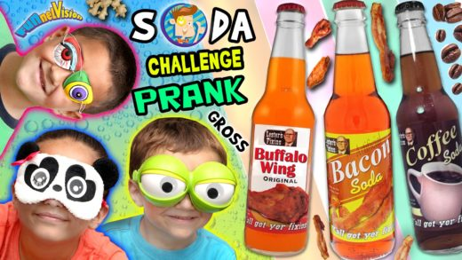 WEIRD SODA CHALLENGE PRANK! Bacon, Coffee, Buffalo Wing & Peanut Butter (w/ FUNnel Vision Parents)