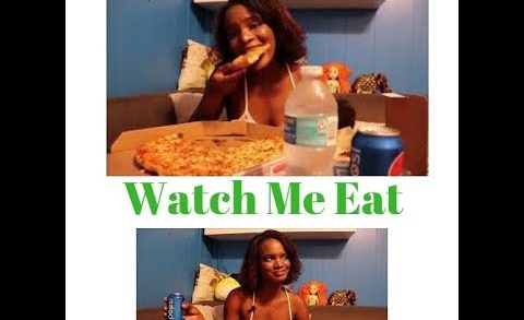WHATCH ME EAT || Large Cheese pizza || Mukbang