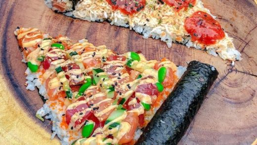 What do you think of this Sushi Pizza? ? ?⠀ :  •⠀ •⠀ •⠀ •⠀ •⠀ •⠀                            ...