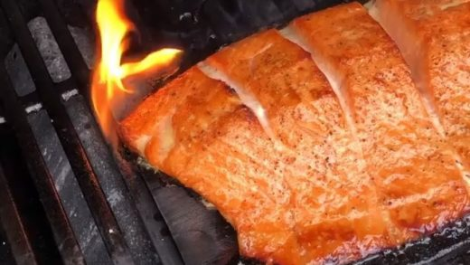 Who has had a fresh salmon cooked over fire on a cedar plank .. me me me !!! And I got spoiled how bout you  . . Good stuff  . . .          .                 ...