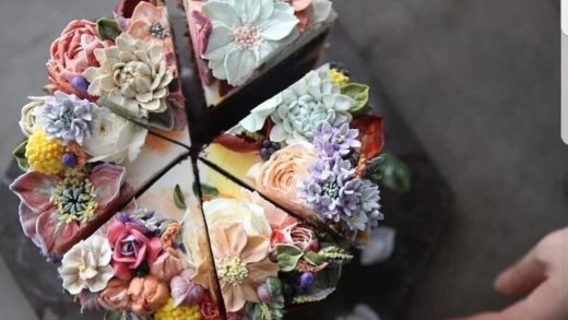 YES OR NO?? Best cake ever!!! Amazing flower cake by  This cake is so amaazing, so beautiful!!!                          ...