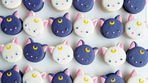 YES OR NO?? Cat macarons  by  . its so cute!! i want !                       ...