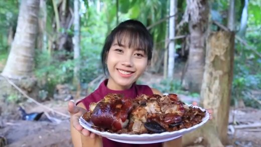 Yummy cooking Pork leg stew recipe   Cooking skill   YouTube