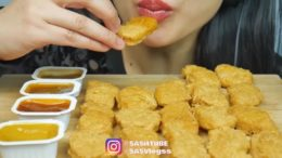 cr;   _ Food: Chicken nuggets  _ All hate will be deleted (this video is for ASMR purposes) –                               _ This video belongs to the person tagged at the beginning of my caption _ 207k…
