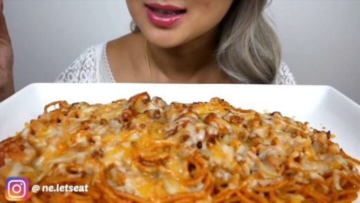 cr:   _ Food: Filipino spaghetti  _ All hate will be deleted (this video is for ASMR purposes) -                               _ This video belongs to the person tagged at the beginning of my caption _ 168k...