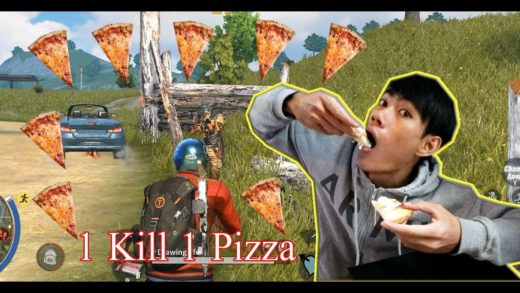 1 KILL= 1 Pizza Challenge Rules Of Survival Battle Royale / Drawing Life