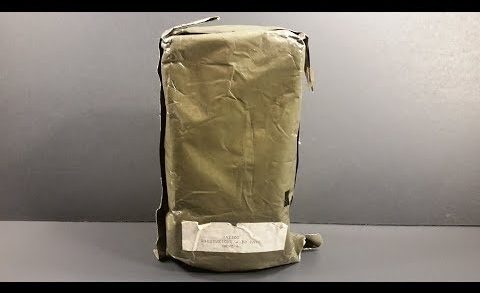 1986 Ration Lightweight 30 Days Prototype MRE Review Meal Ready to Eat Taste Testing RLW 30