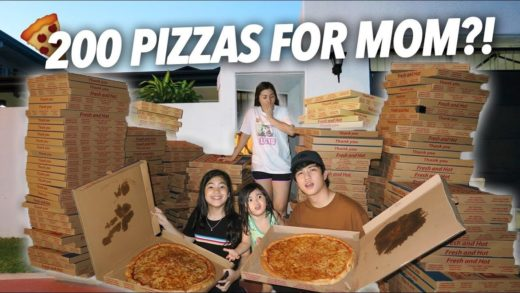 200 Boxes of Pizzas For Mom?! (She Freaked Out) | Ranz and Niana