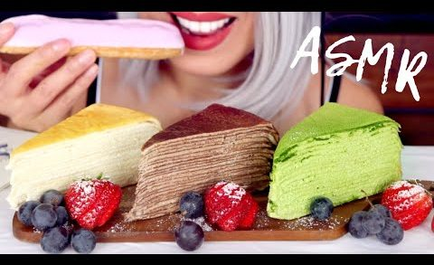 ASMR Eating Crepe Cake from Lady M | Reaction Video *No Talking