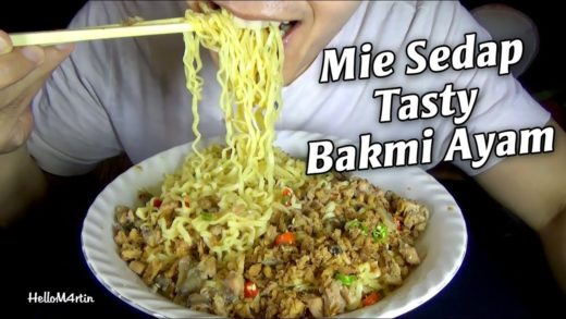 ASMR Eating Sound - Let's Eat Mie Sedap Tasty Bakmi Ayam