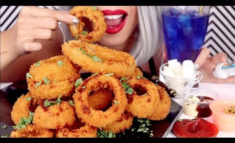 ASMR Eating THE CRUNCHIEST Onion Rings *No Talking*