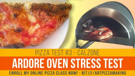 Ardore oven stress test, how to cook a calzone pizza
