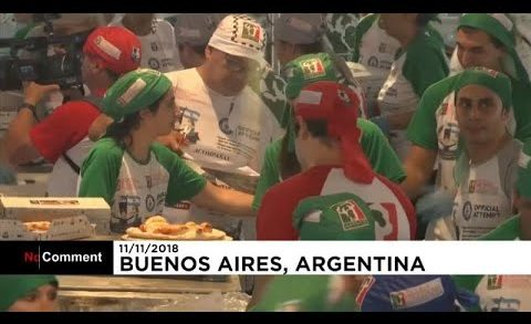 Argentine chefs break world record by baking 11,287 pizzas in 12 hours