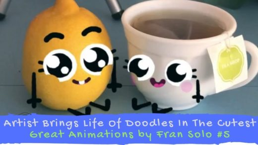 Artist Brings Life Of Doodles In The Cutest - Great Animations by Fran Solo #5