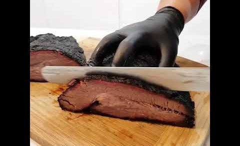 BEASTY BRISKET ALERT!! Check out the Jiggle and Smoke Ring on this 6.5kg slab of Beautiful Beef