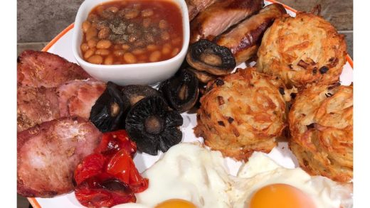Bigggggg breakfast to kick start my week  . 3  skinny sausages (1 syn each), grilled bacon medallions, eggs fried in  speedy tomatoes & mushrooms, homemade hash browns (check my highlights) and baked beans  .               ...