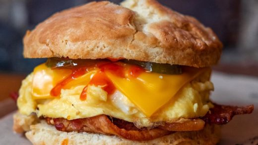 Biscuit Bacon Egg & Cheese! This is a BEC worth getting outta bed for! From  I added some hot sauce and pickled jalapeños because I like it ...