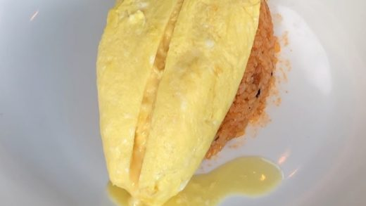 Brains for brunch. A smart start to your day.  Omurice: egg omelette, demi, chicken rice. :  : ...