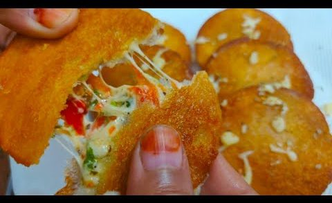 Bread k is tasty snack k aage pizza burger fail | cheese kabab | bread cheese kabab/cutlet recipe |