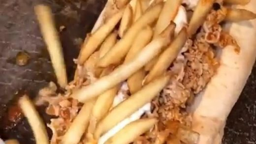 Buffalo Chicken Cheesesteak w/ Fries and Cheez Whiz!  Love Food? Follow us:  vc:  Tag a Hungry Friend!...