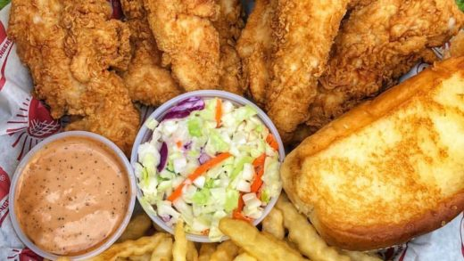 CANIAC     Still one of the best chicken fingers around. Sauce. Texas toast. Slaw. Crinkles. Never fails! TAG A CHICKEN HEAD...