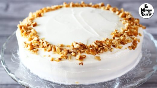 Carrot Cake with Apple and Walnuts