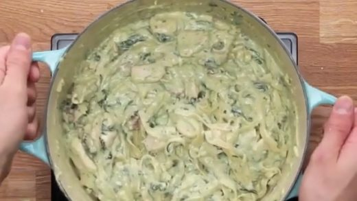 Check out this cheesy pesto pasta!!   by ...