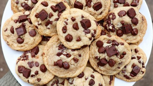 Classic Vegan CHOCOLATE CHIP COOKIES We loaded these up with mini chocolate chips, regular choco chips, and chunks!! Classic Chewy Chocolate Chip Cookie recipe is up on the blog ...