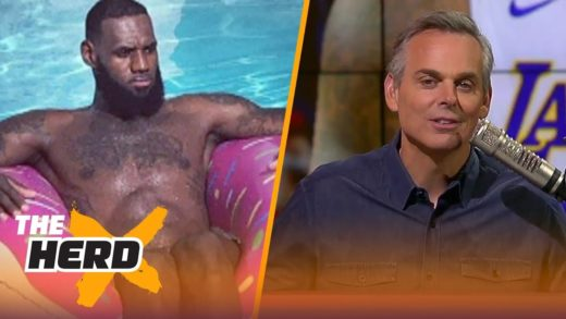 Colin on LeBron missing a pizza party in LA, the Warriors continued dominance | NBA | THE HERD