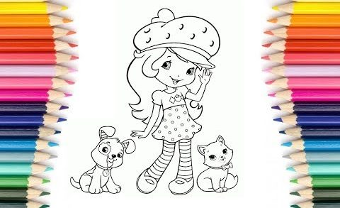 Coloring Pages Strawberry Shortcake | Coloreando a Tarta de Fresa | Learn Colors For Children