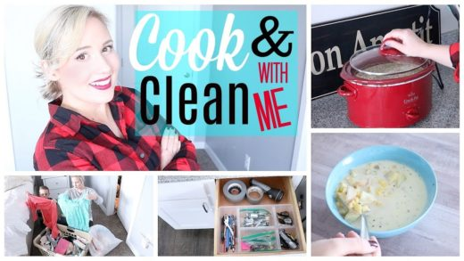 Cook & Clean with Me| EASY Potato Soup & Extreme Cleaning Motivation