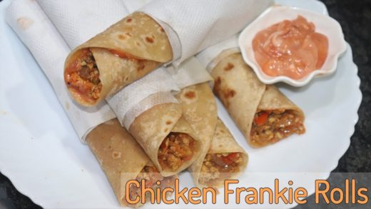 Delhi Street Style Chicken Frankie Rolls | In Just 10 Minutes