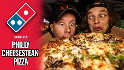 Domino's Philly Cheesesteak Pizza Food Review