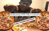 FOODporn.pl Double cheeseburger pizza mukbang with B.Millionz