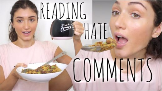 EATING STUFFING WHILE READING HATE COMMENTS ABOUT MY BODY