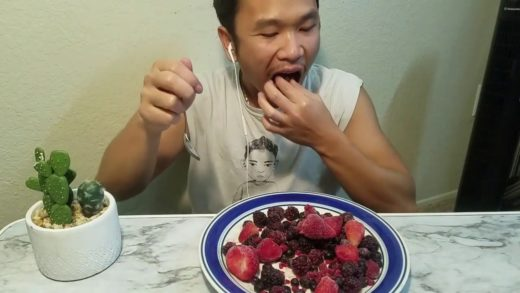 Eating show frozen fruit mukbang AMSR