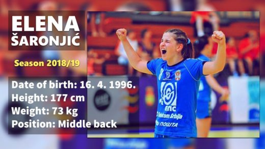 Elena Saronjic - Handball player - Season 2018/2019