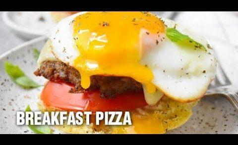 English Muffin Breakfast Pizza recipe by Swaggerty's Farm®