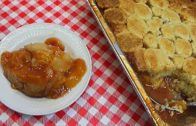 FOODporn.pl FREEZE & BAKE PEACH COBBLER  RECIPE!  MAKE AHEAD THANKSGIVING
