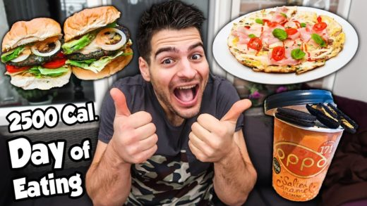 FULL DAY of EATING - IIFYM STYLE | BURGERS, PIZZA & ICE CREAM