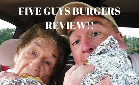 Five Guys Burger Review with Memaw!