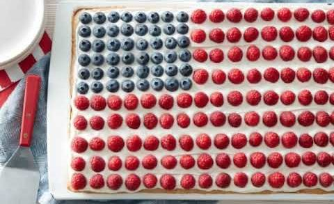 Flag Fruit Cookie Pizza recipe