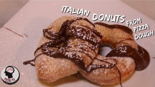 HOW TO MAKE ITALIAN DONUTS FROM PIZZA DOUGH