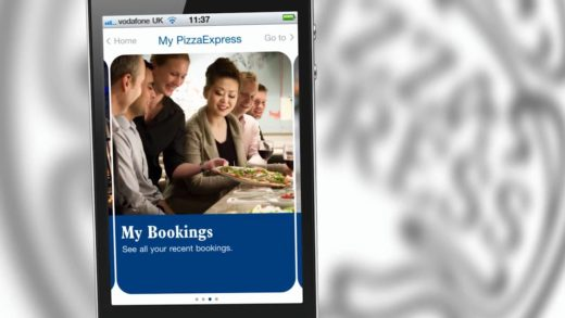 How the Pizza Express PayPal app works