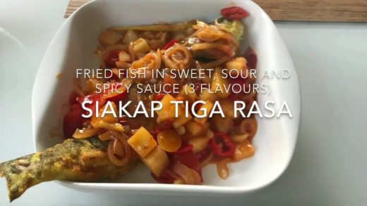 How to make Malaysian/Thai Style Fried Fish in 3 Flavor Sauce Recipe