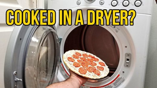 Is pizza still good if it's cooked in a clothes dryer?
