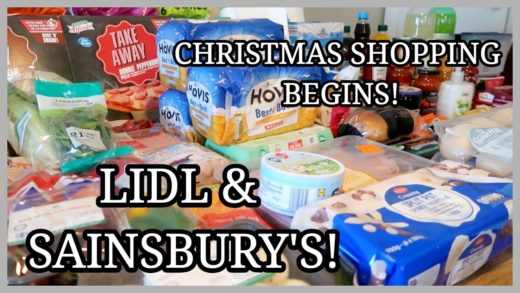 LIDL & SAINSBURY'S FOOD HAUL ~ THE CHRISTMAS STOCK UP BEGINS! ~ FAMILY OF 5
