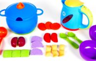 FOODporn.pl Learn Colors with New Sprouts Playset for Kids | Cooking Soup with Yippee Toys