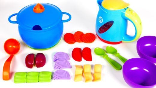 Learn Colors with New Sprouts Playset for Kids | Cooking Soup with Yippee Toys